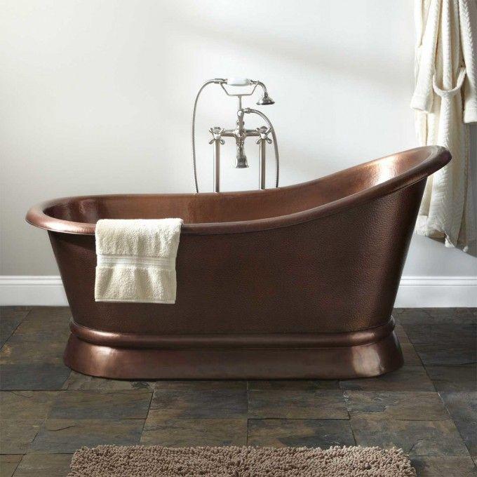 Paxton Copper Slipper Pedestal Tub - Bathtubs - Bathroom