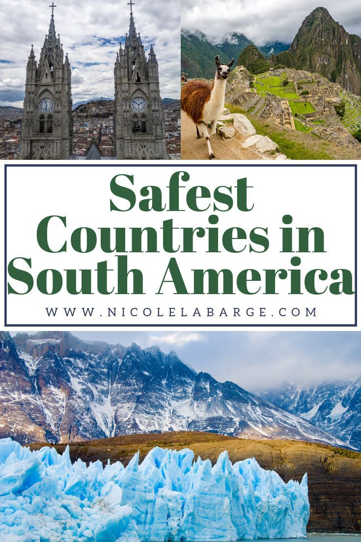 Wondering which are the Safest Countries in South America? South America has a bit of a reputation for being unsafe.  Officially there are 12 UN Nations in South America plus French Guiana which is a territory of France.  This is a list of the safest countries and my experience there. #traveltips #southamerica