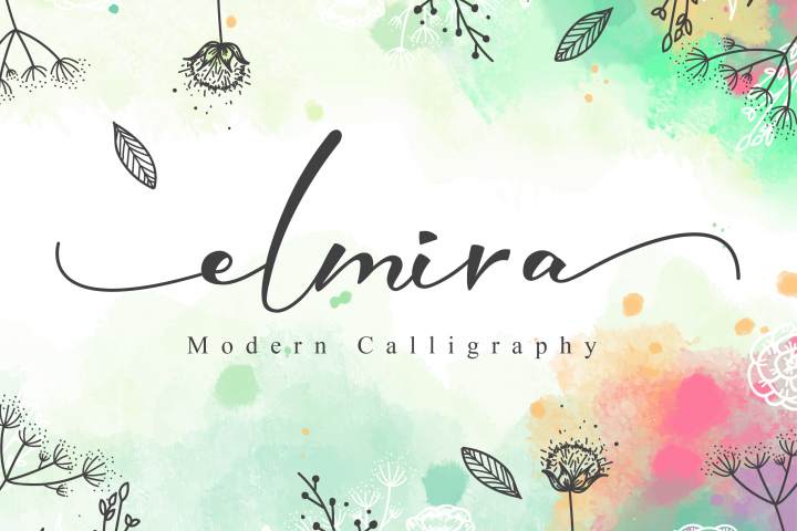 Elmira Script Instagram font, Cool fonts, Wedding fonts
