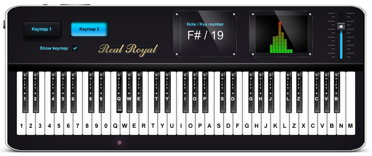 Virtual piano online. Play music on keyboard. Piano
