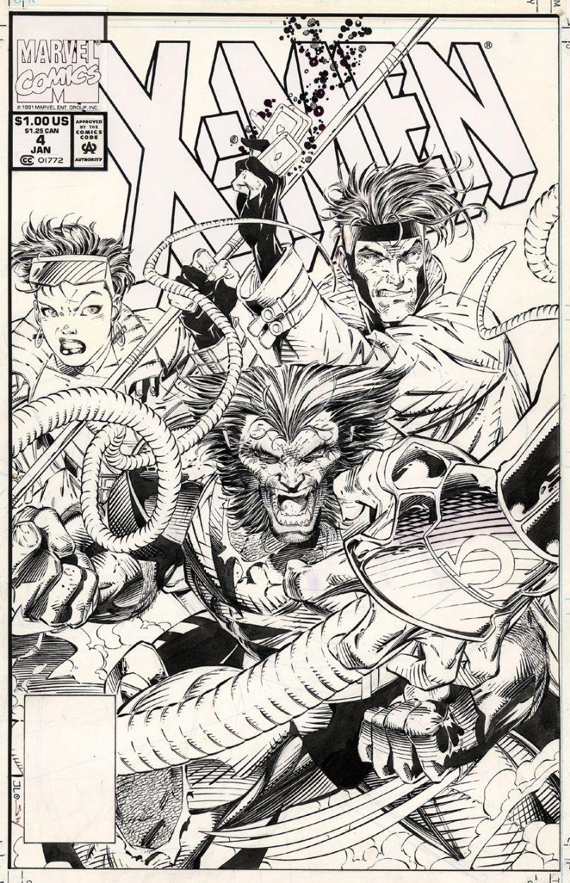X Men 4 Cover Jim Lee Jim Lee Art Jim Lee Comic Art