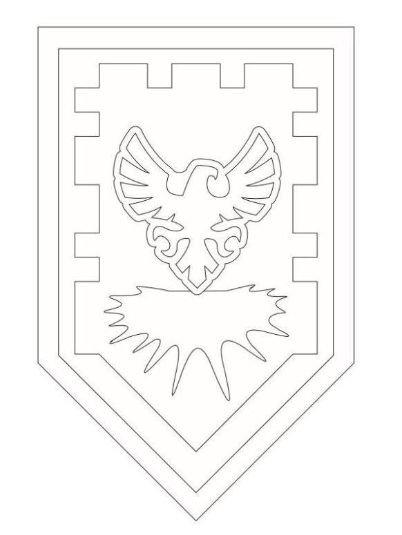 mewar11 nexo knights schild kleurplaat