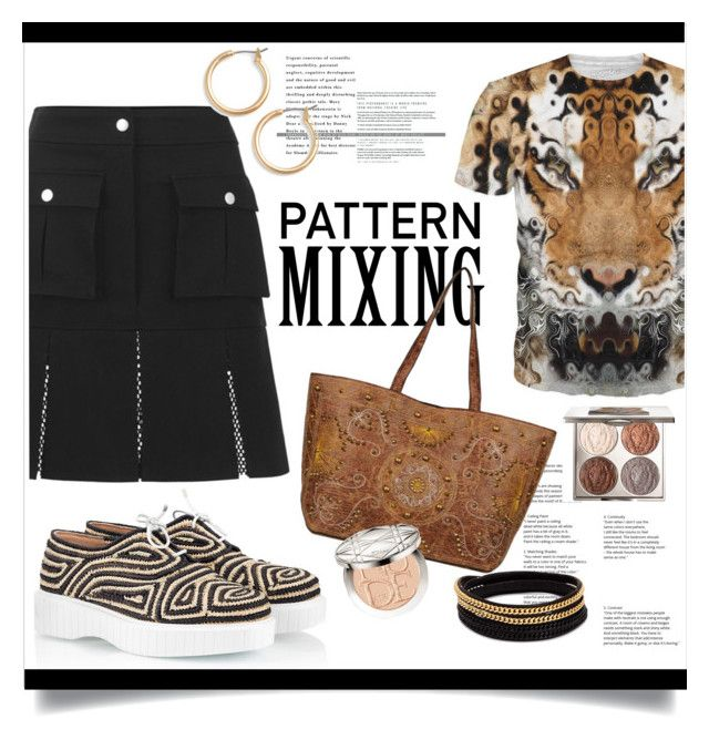 """""""Pattern Mixing"""" by judysingley-polyvore ❤ liked on Polyvore featuring Robert Clergerie, Vita Fede, Nordstrom, Christian Dior, Chantecaille and patternmixing"""