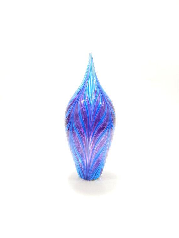 Hand Blown Art Glass Sculpture   Lavender by ParadiseArtGlass