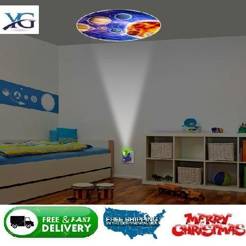 6 Images Projector Led Plug In Night Light Wall Ceiling Relaxing Kid Children Night Light Wall Lights Projects