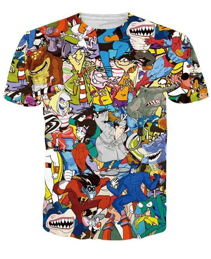 6cae2e21283a1 Animaniacs 90's Cartoon 3D Print T-shirt Cotton Unisex Tee Shirts Short  Sleeve Casual Homme Loose Summer Tops