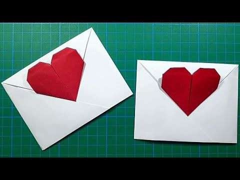 Photo of Origami Envelope with Heart (TUTORIAL)/Mothers Day Origami