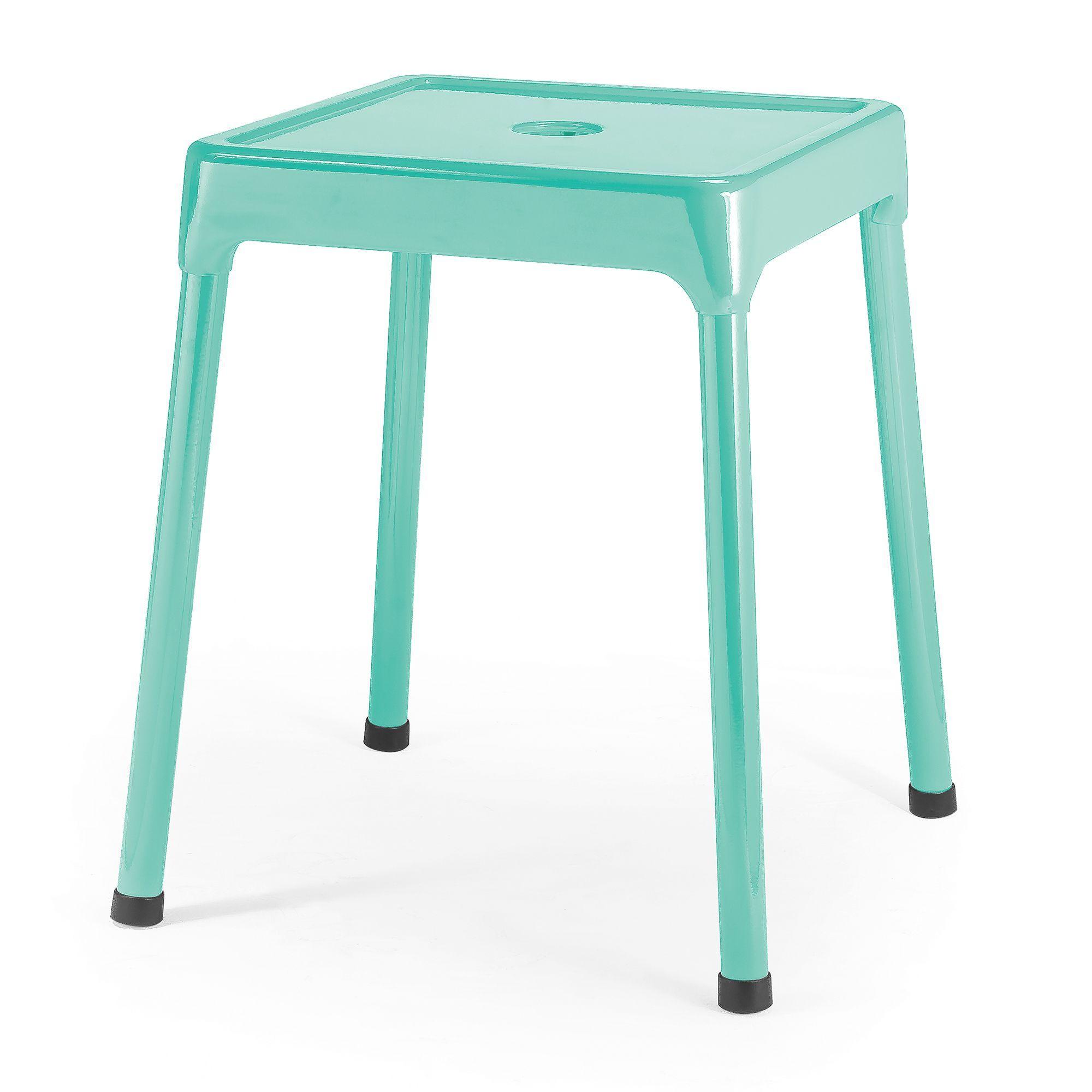 tabouret en acier vert d 39 eau mata tabourets et bancs. Black Bedroom Furniture Sets. Home Design Ideas