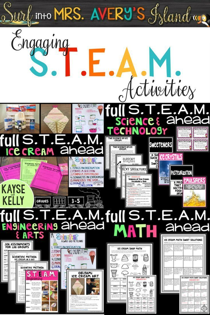 Looking for STEAM activities to keep your elementary aged science students engaged?  Click here to discover the ease of incorporating this STEAM activity for kids into your science lesson plans.  Your students will discover the science in making homemade ice cream in a bag while addressing standards in technology, engineering, art, and math!