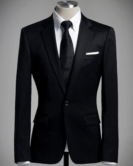 Mens Black Suit with White Shirt and Black Tuxedo | Fashion ...
