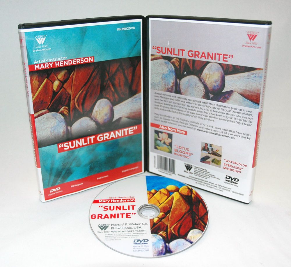 "Mary Henderson DVD Lesson Watercolor ""Sunlit Granite"