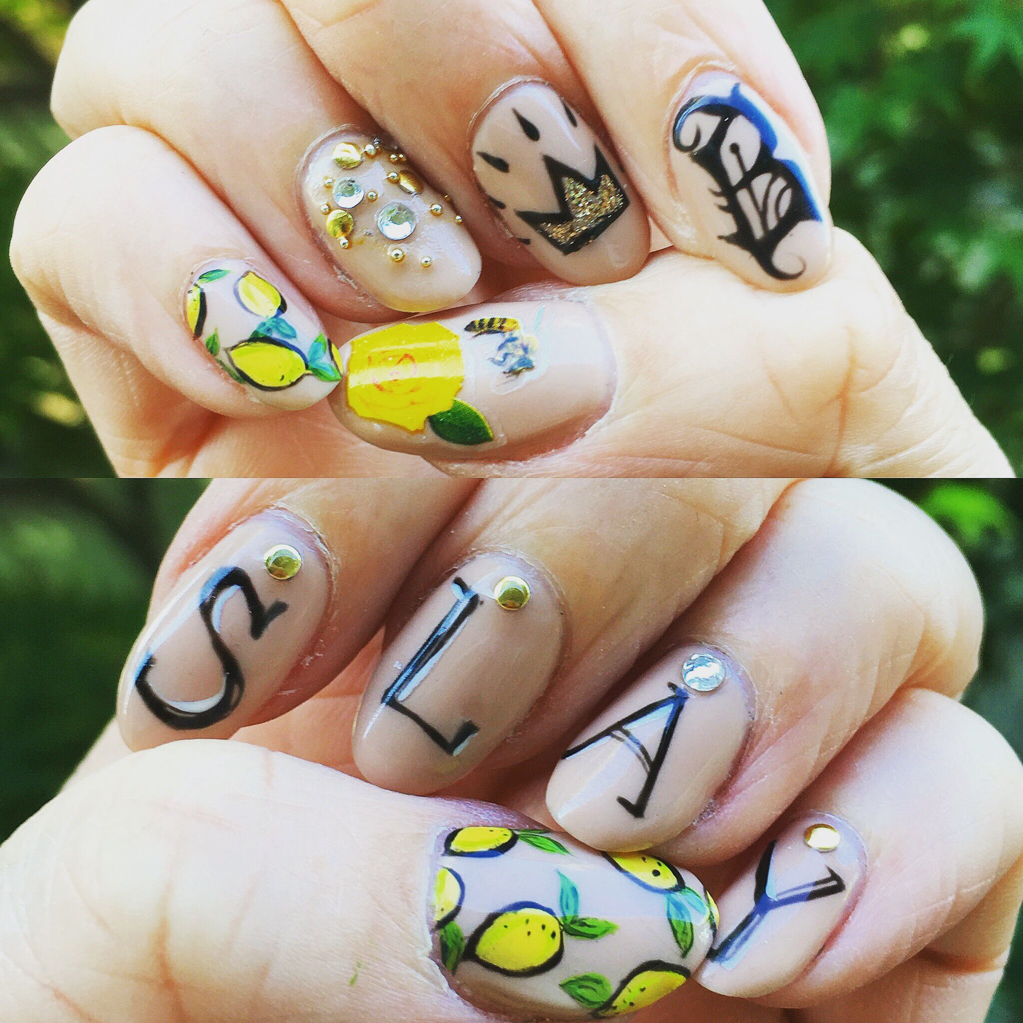 Lemonade // Beyoncé inspired nail art by Melody Sage @ figandclover ...