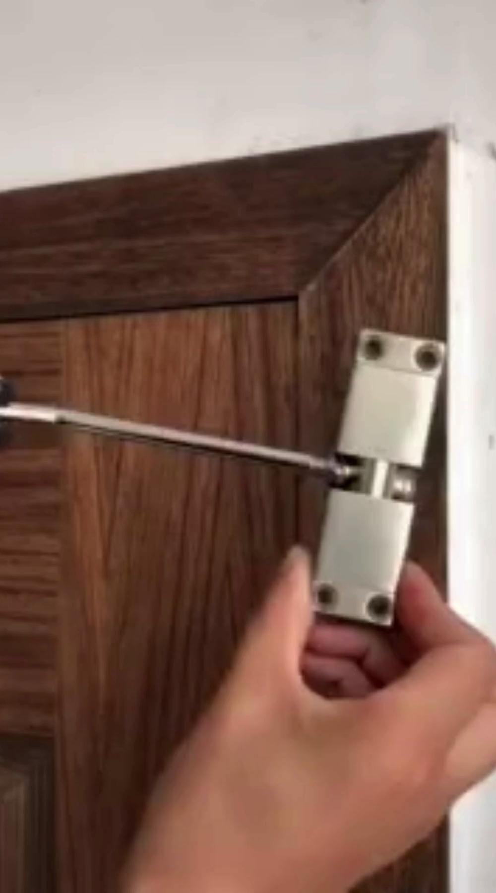 Auto Mounted Spring Door Closer Stainless Steel Adjust Surface Self Closing Door Video Video In 2020 Diy Projects Plans Diy Home Repair Home Room Design