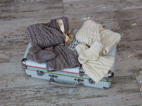 7c1665636e3a7 Bulle Nordique ensemble en laine cachemire pour bébé