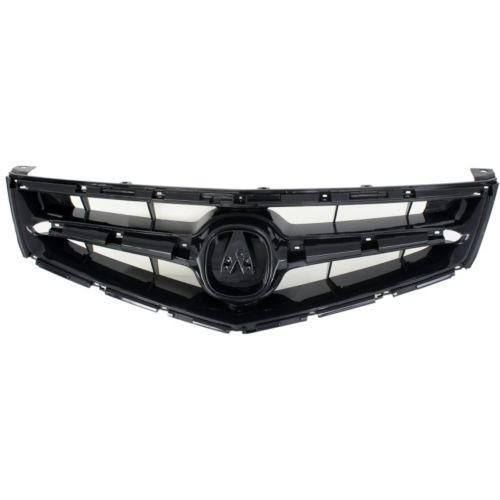 2006-2008 Acura TSX Grille, Painted-Black