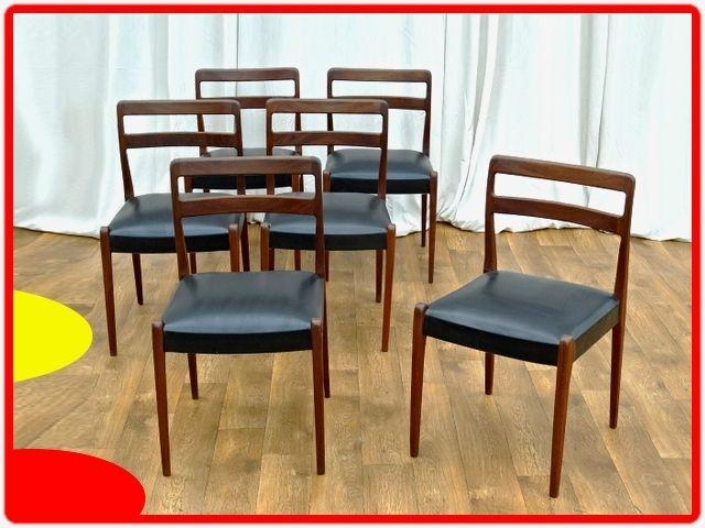 6 Chaises Vintage Design Danois Palissandre Vintage Design Meuble Vintage Chaise Vintage