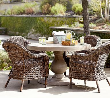 Geneva Concrete Round 48 Quot Dining Table Outdoor Dining