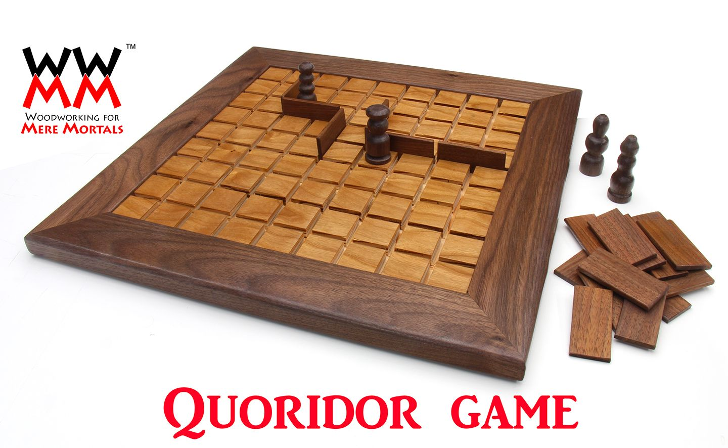 Make A Quoridor Game Woodworking For Mere Mortals Wooden Board Games Woodworking For Mere Mortals Wood Games
