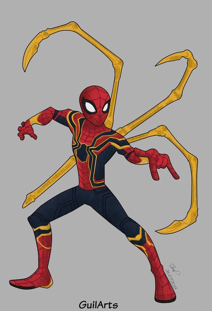 Iron Spider Fanart By Guilarts Spiderman Drawing Spider Art Spiderman Artwork