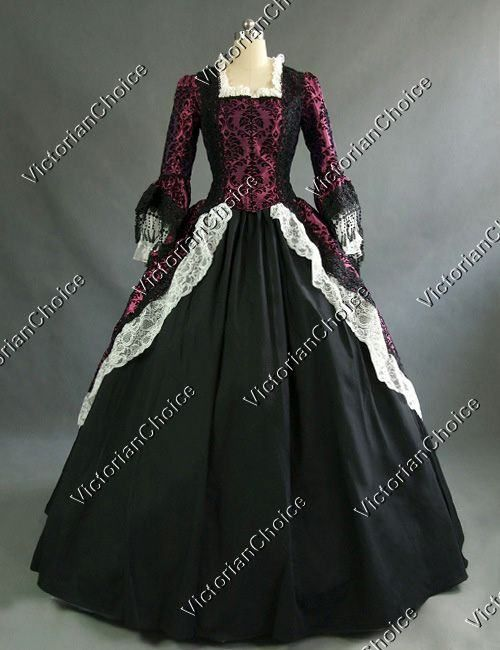 Colonial+Renaissance+Period+Masquerade+Vampire+Victorian+Dress+Ball+ ...