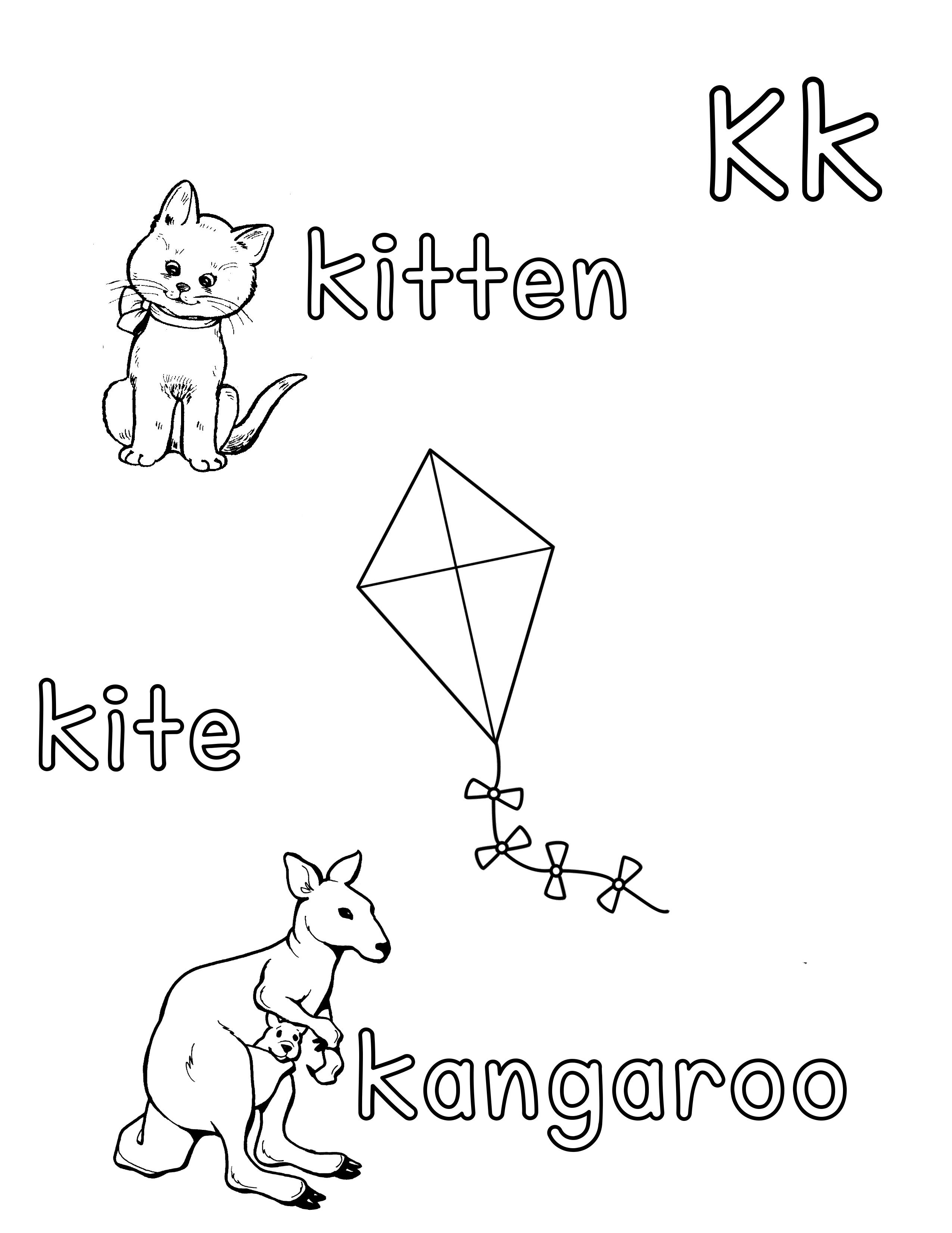 Phonetic Kk Coloring Sheet