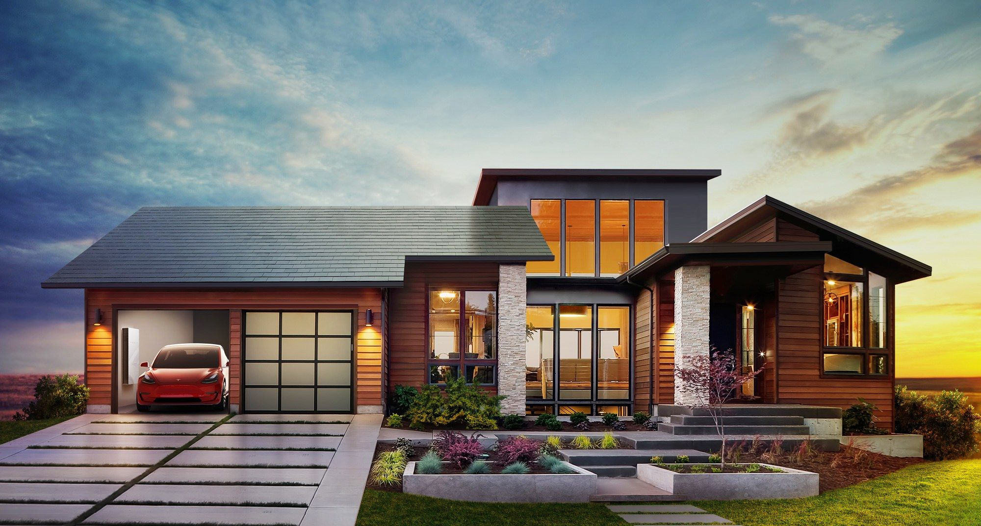 Tesla Unveils Its New Line Of Camouflaged Solar Panels Tesla Solar Roof Solar Roof Shingles Solar Tiles