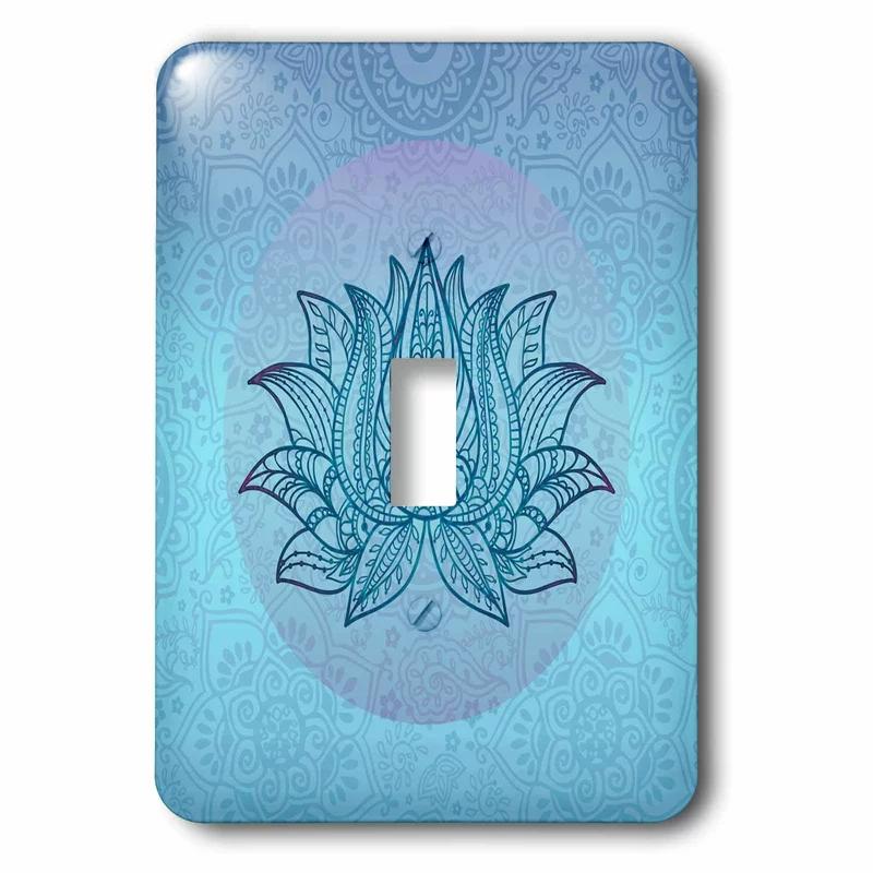 3drose Lotus Flower 1 Gang Toggle Light Switch Wall Plate Wayfair In 2020 Toggle Light Switch Plates On Wall Light Switch