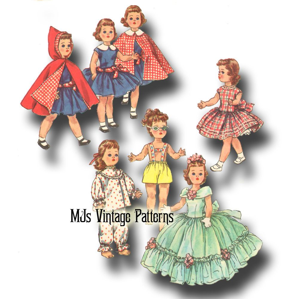 "Sweet Sue Miss Revlon Vintage Doll Clothes Pattern ~  20/"" 21/"" 22/"" Toni Walker"