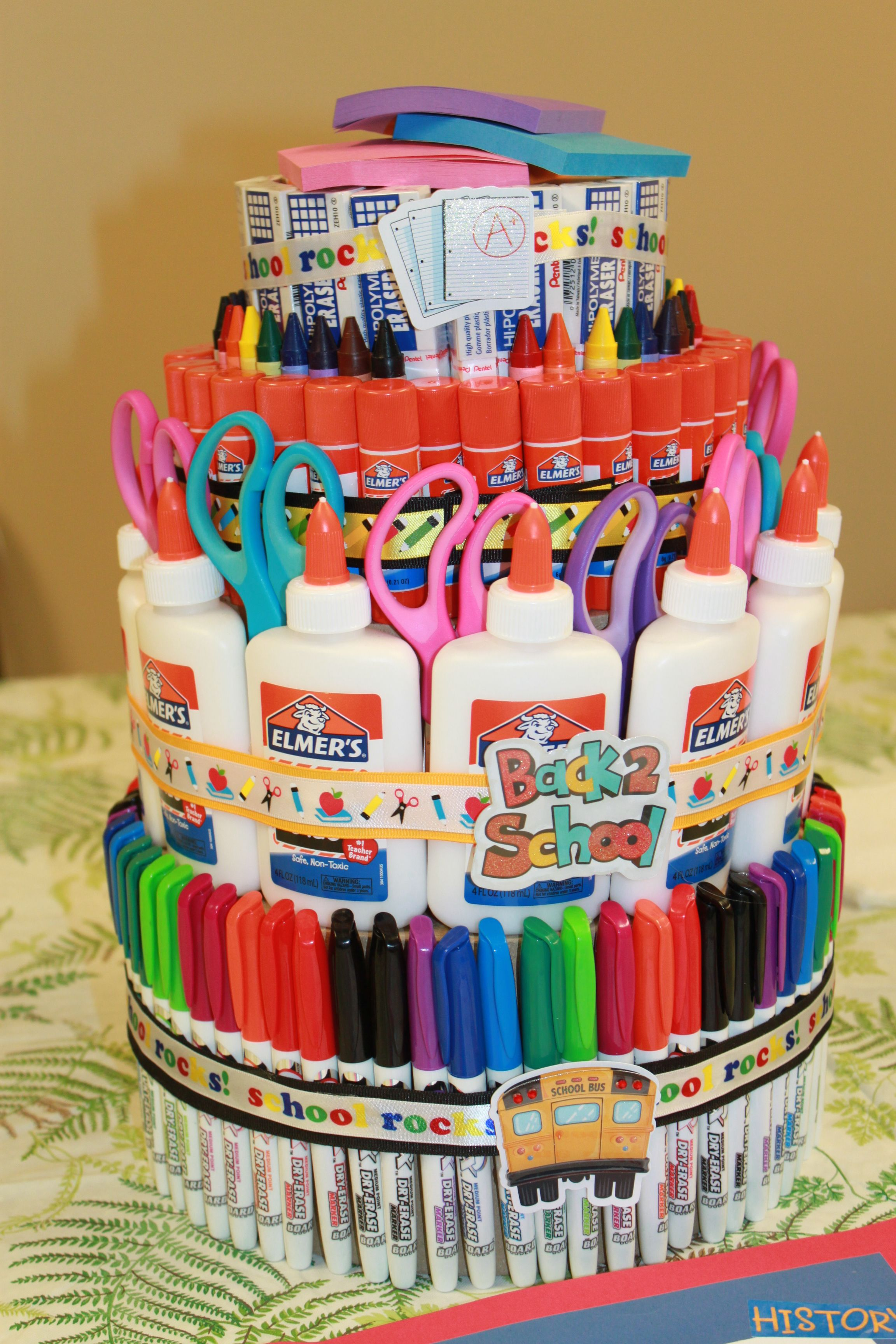 School Supply Cake I Made For The Teacher S Lounge For A