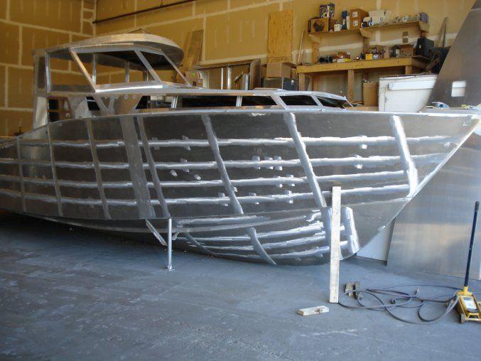 How to build a aluminum boat trawler yachts motorsailer pinterest aluminum boat boating for Aluminium boat designs plans free