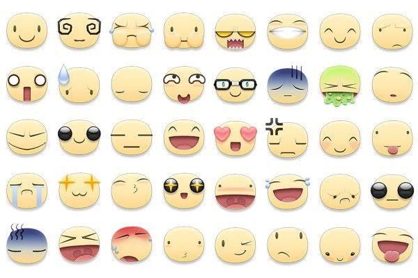 Facebook Emoticons Old And New Collection Emoticon Stickers Emoticon New Emoticons