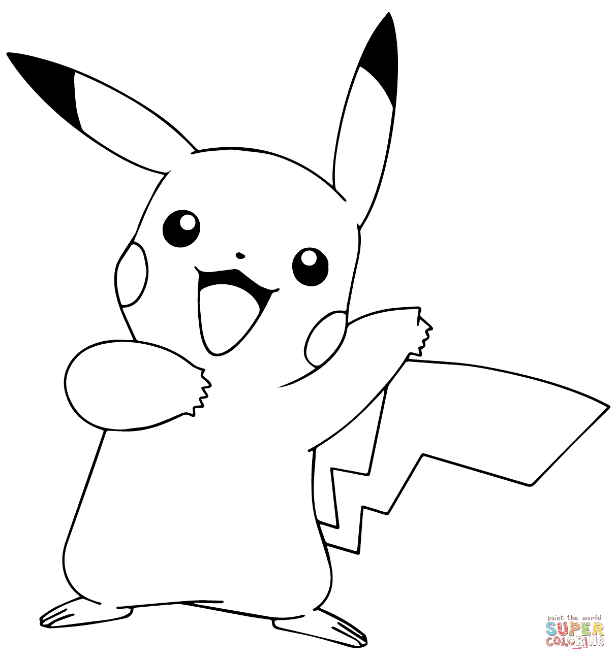 Pikachu From Pokemon Go Pokemon Coloring Sheets Pikachu Coloring Page Pokemon Coloring