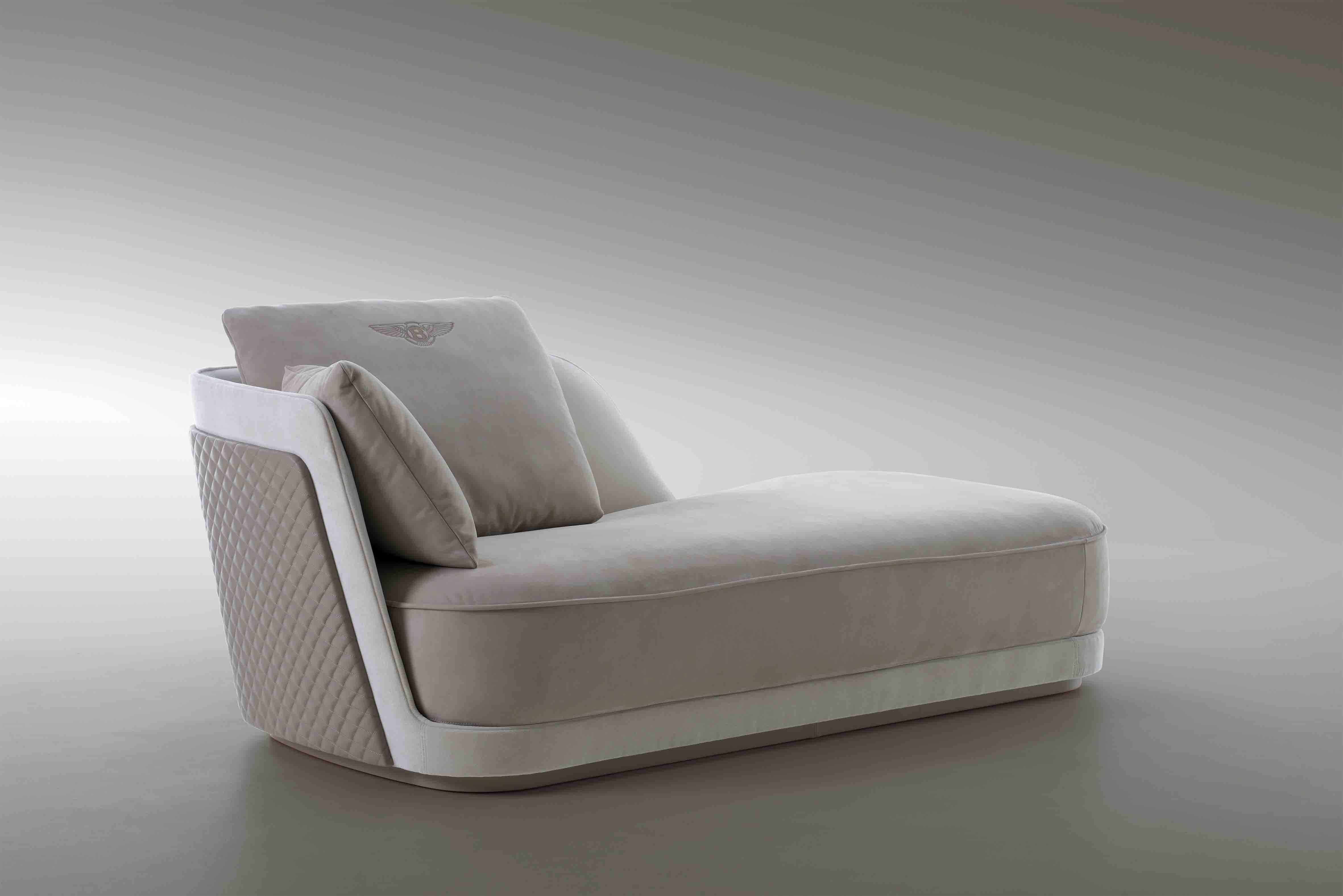 A Few New Items From Bentley Furniture Were On Display During The Art Basel Miami Fair Chairs Chaise Longues And Sideboard