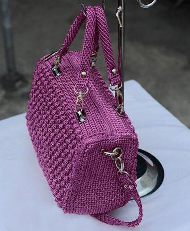 849fead480846 örgü çanta modelleri yapılışı anlatımlı | örgü | Tığ işi çanta ...