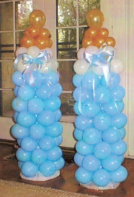 Baby shower balloon art love the bottles but they have for Balloon art for baby shower