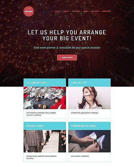 Event Planner WordPress Theme wordpress website template   Wordpress ...