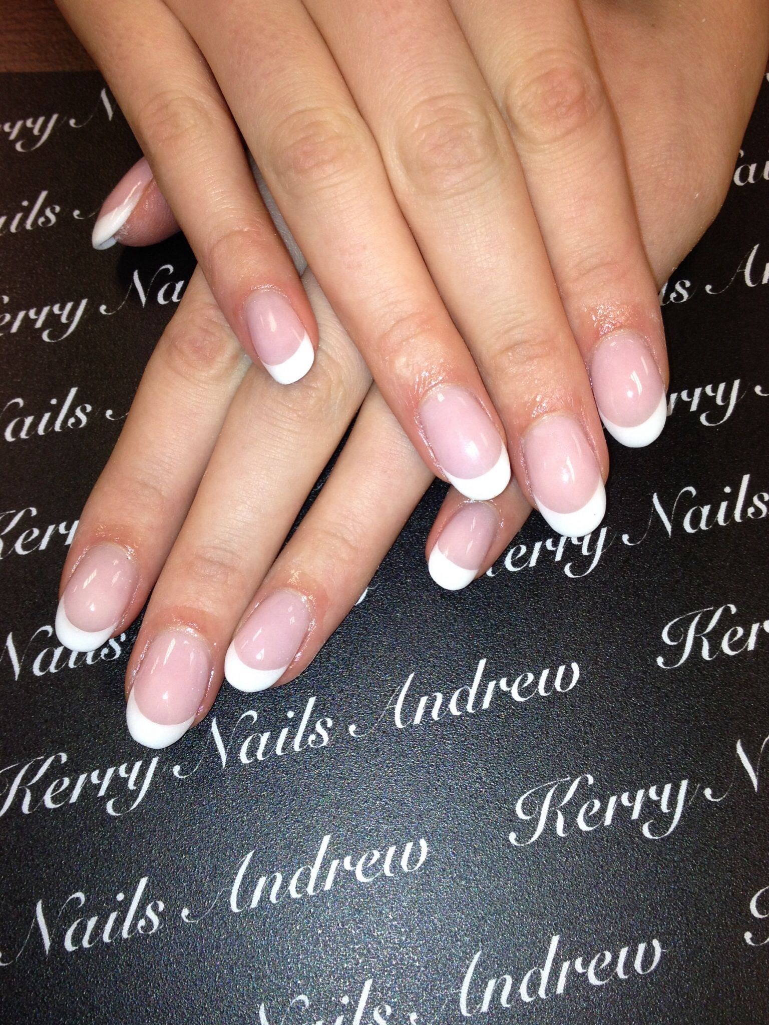 Pink White Nails French Nails French Acrylic Nails French Tip Acrylic Nails