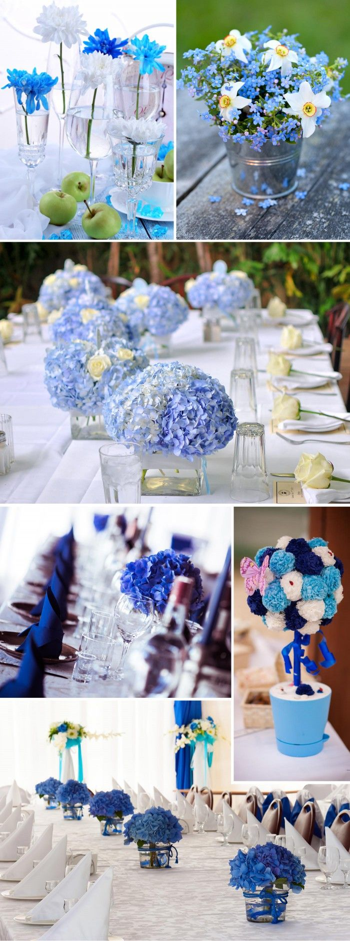 Tischdeko In Turkis Blau Boy Shower Wedding Flowers Wedding