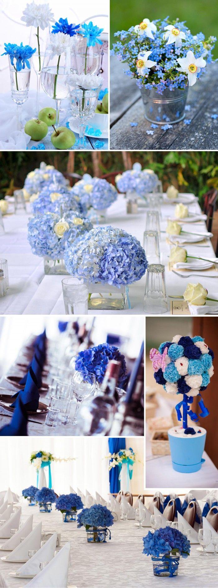Dekoration in Türkis und Blau