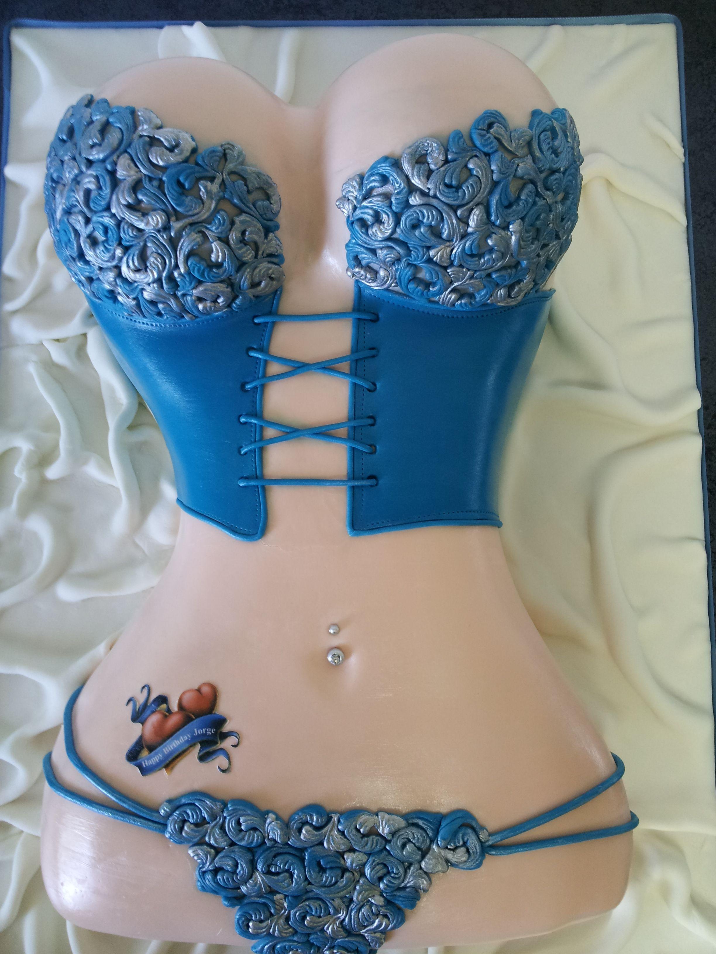 lingerie taart Birthday Cakes   Lingerie cake design! Vanilla cake with cream  lingerie taart