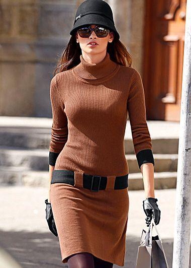 Brown sweater Dress www.venus.com $36 | Dresses | Pinterest ...