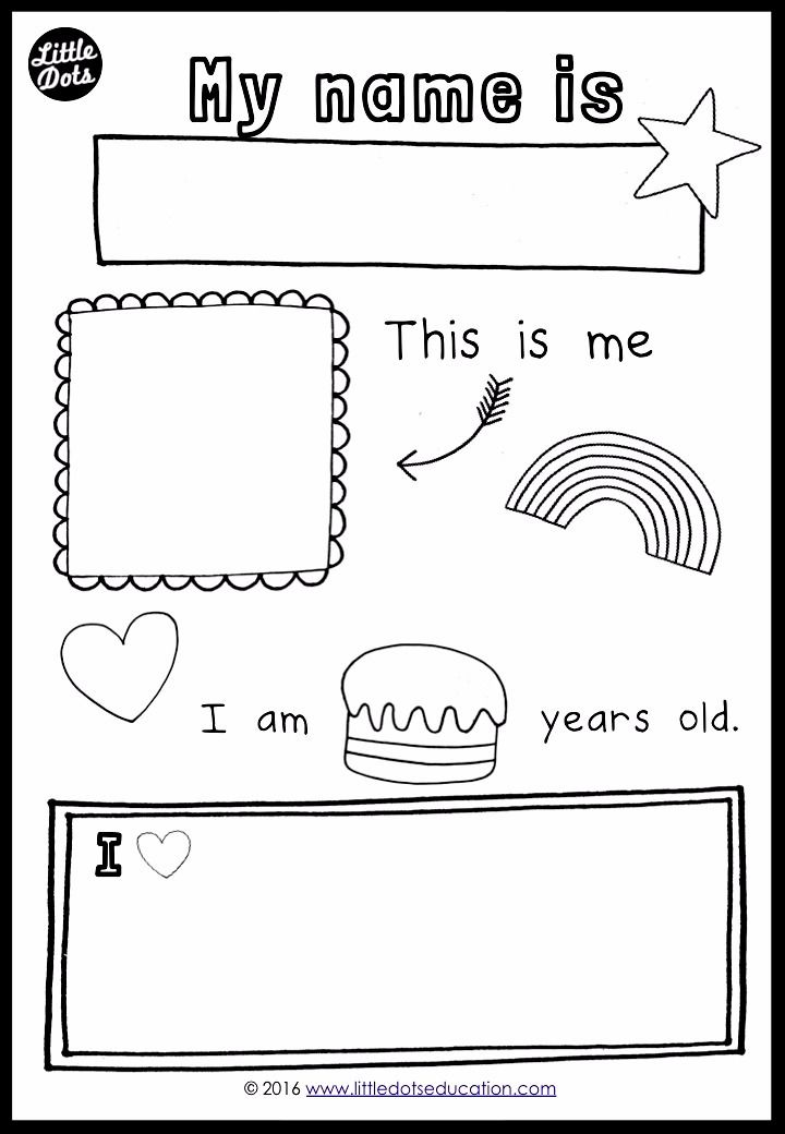 graphic regarding All About Me Preschool Printable identify Free of charge all concerning me topic printable for preschool, pre-k or