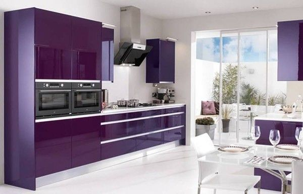 Superieur Metropolitan Gloss Purple Kitchen Design