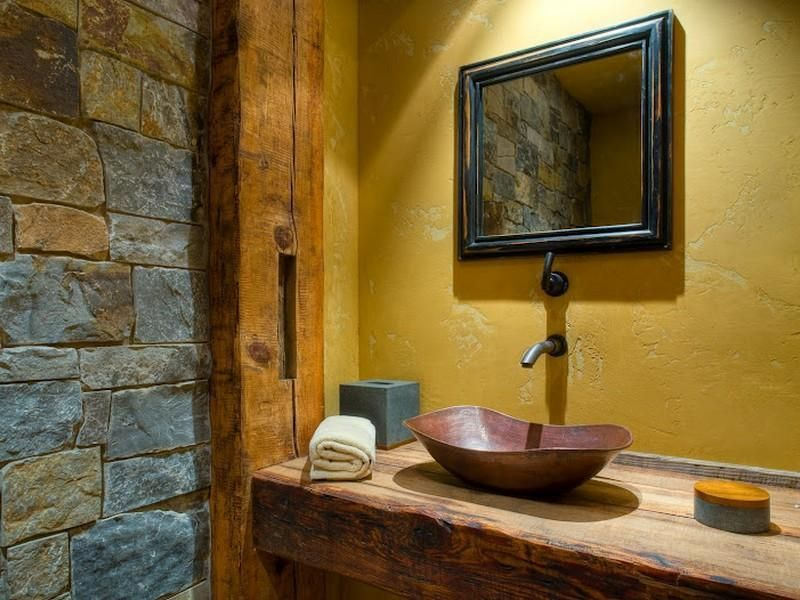 I like everything except the mustard yellow walls, that would need ...