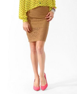 Knee Length Lace Skirt $17.80