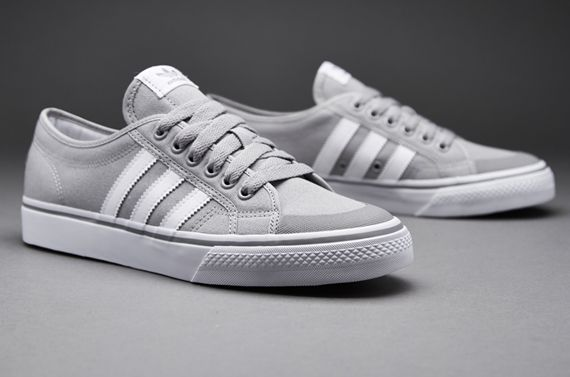 Mens Shoes - adidas Originals Nizza Lo - Solid Grey / White / Gum - B35145