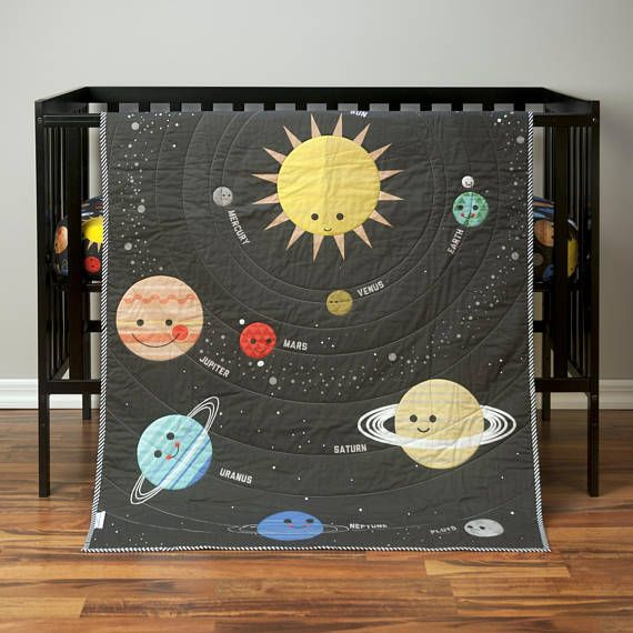 Outer Space Crib Bedding Baby Boy Quilt Galaxy Nursery