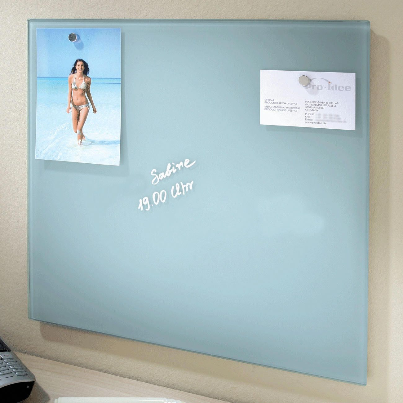 Magnetic Glass Board Finally a notice board in a cool design ...