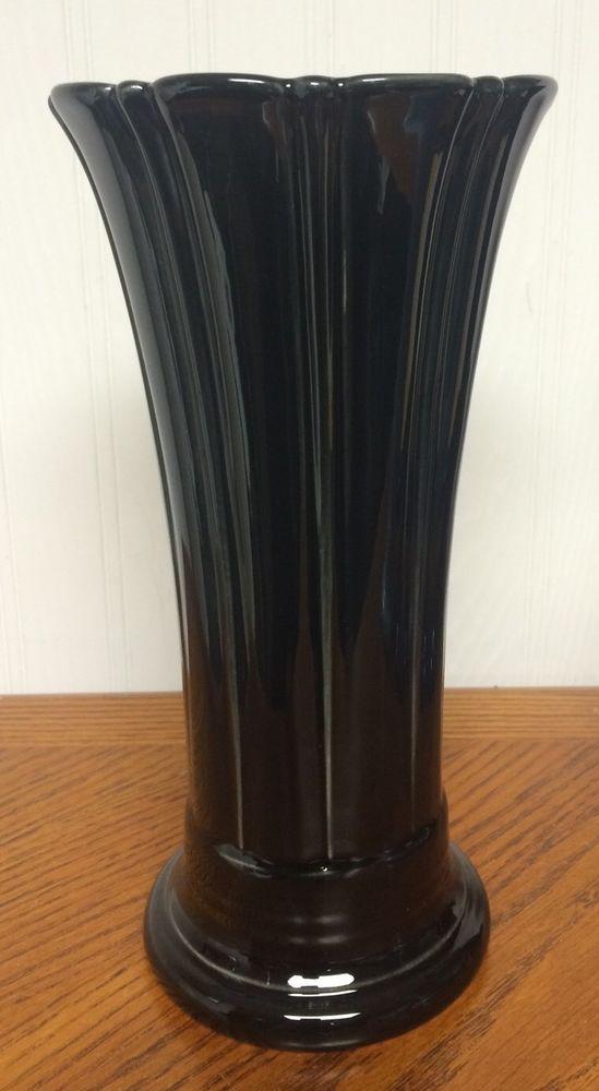 95 Fiesta Black Medium Flared Vase Fiestaware Retired P86 Fiesta