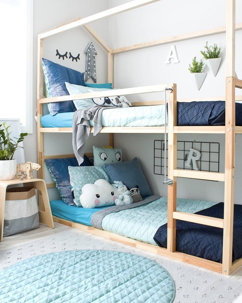 am nager une chambre double pour les enfants d co pinterest chambre double lit superpos. Black Bedroom Furniture Sets. Home Design Ideas